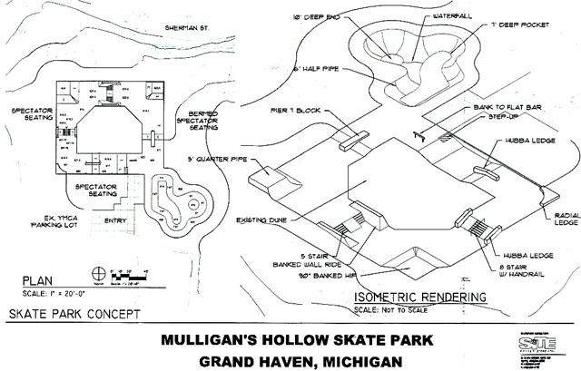 Grand Haven Skatepark Layout